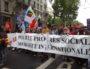La banderole de tête du défilé du 1er mai à Lyon. ©LB/Rue89Lyon