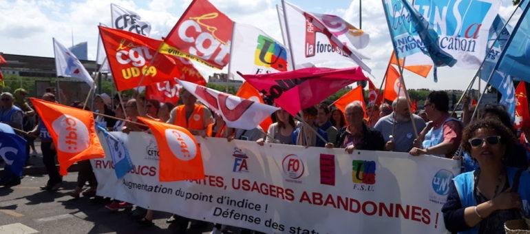 A Lyon, mobilisation en baisse des fonctionnaires pour leur 3e manif