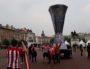 Des supporters de l'Atletico Madrid place Bellecour pour la finale de l'Europa League le 16 mai 2018 à Lyon. Photo LB/Rue89Lyon