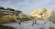 Maquette du groupe scolaire des Girondins, dans le 7ème arrondissement, ouvre à la rentrée 2019. ©Ville de Lyon