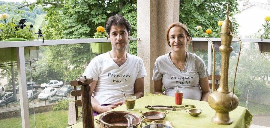"""Portrait des patrons du FoodTruck le """"Pourquoi pas""""."""