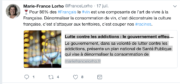 Marie France-Lorho- Compte Twitter - manifeste