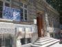 L'entrée de l'école Marc Bloch (Lyon 7e) occupée depuis le 26 juin. ©LB/Rue89Lyon