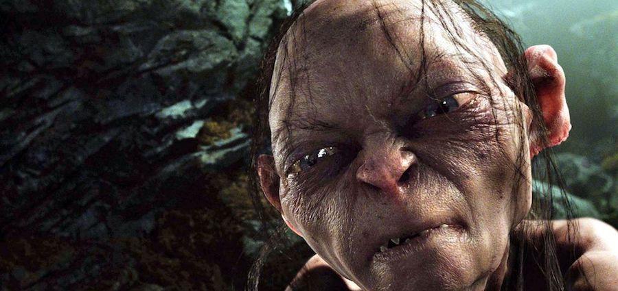 L'occasion de retrouver Gollum, l'inquiétante créature à la poursuite de l'anneau unique. Photogramme tiré du Retour du roi.