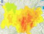 Prévision de pollution à l'ozone dans la région Auvergne-Rhône-Alpes pour le mardi 31 juillet. Capture d'écran Atmo Auvergne-Rhône-Alpes