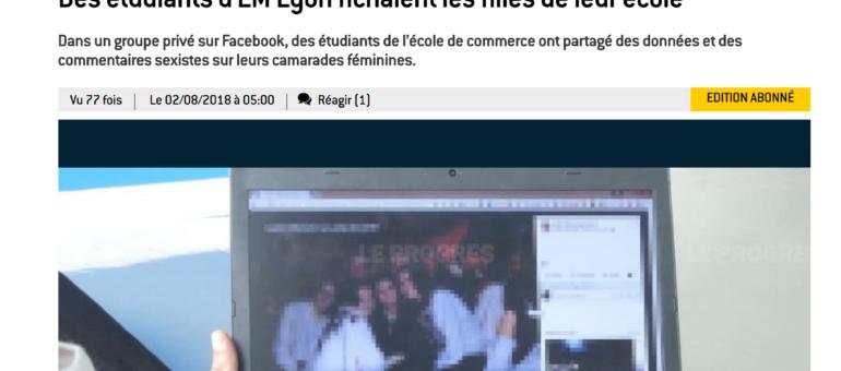 Des étudiantes de l'EM Lyon classées de façon graveleuse, dans un groupe privé Facebook