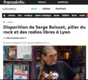Mort de Sege Boissat, capture d'écran de l'article de France Info.