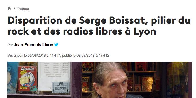 Serge Boissat, iconique disquaire à Lyon et pilier des radios libres, est décédé