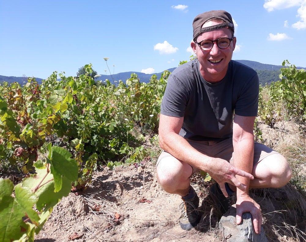 Sébastien Congretel, vigneron à Lantignié ©LB/Rue89Lyon