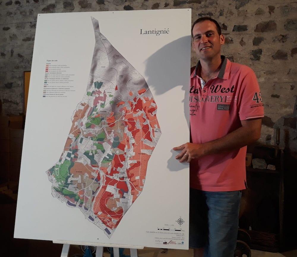 Frédéric Berne, président de l'association des vignerons de Lantignié. ©LB/Rue89Lyon