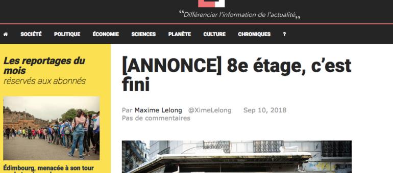 Maxime Lelong explique pourquoi il met fin à son site d'info 8è étage