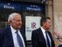 Michel Forissier et Philippe Cochet, à Lyon le 10 septembre, le jour où le délégué départemental et le président de la fédération ont annoncé qu'ils quittaient leur fonction. ©LB/Rue89Lyon