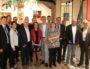 """Marc Grivel, Christophe Geourjon et une partie des 65 élus de l'association """"Construisons la Métropole pour demain"""" réunis ce mardi 25 septembre. ©AG/Rue89Lyon"""