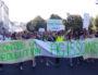 Une des banderoles en tête de la Marche pour le climat à Lyon. ©LB/Rue89Lyon