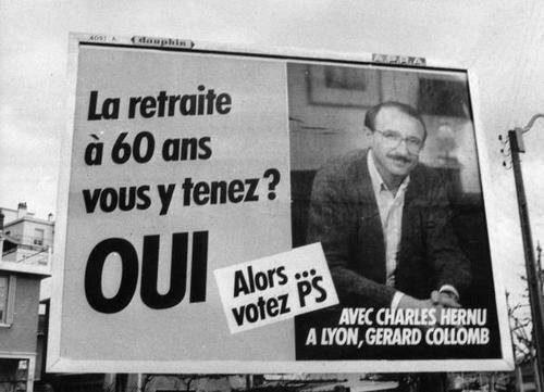 Photo d'archives, Gérard Collomb est en campagne à Lyon (depuis 42 ans donc).