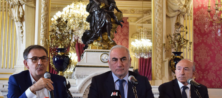 Gérard Collomb, David Kimelfeld et Georges Képénékian, un triumvirat pour la photo