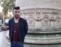 Jimmy Riot le 9 novembre 2018 place Carnot (Lyon 2e). Il veut faire reconnaître le caractère homophobe de l'agression qu'il a subie en septembre ©LB/Rue89Lyon