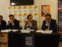 De gauche à droite : Alain Blum (président de la Licra Auvergne-Rhône-Alpes), Mario Stasi (président de la Licra), Thomas Rudigoz (député) et David Kimelfeld (président de la Métropole). ©LB/Rue89Lyon