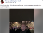 Capture d'écran d'une page FB, d'où est partie la vidéo de Gérard Collomb pendant la Fête des Lumières 2018. DR