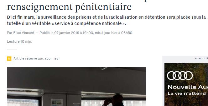 À Lyon, un futur service national du renseignement pénitentiaire