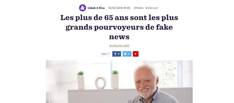 «Papi et mamie» plus enclins à partager des fake news ?