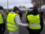 """Des """"gilets jaunes"""" sur l'autoroute A7 à Lyon le samedi 5 janvier. ©LB/Rue89Lyon"""