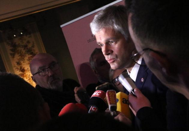 Laurent Wauquiez, président de la région Auvergne- Rhône-Alpes lors de ses voeux 2019. Le 28 janvier 2019 au musée des Tissus et des Arts Décoratifs. ©MG/Rue89Lyon