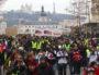 """La manifestation débouche dans le calme du pont de la Guillotière. Acte XI des """"Gilets Jaunes"""" samedi 26 janvier 2019. ©MG/Rue89Lyon"""