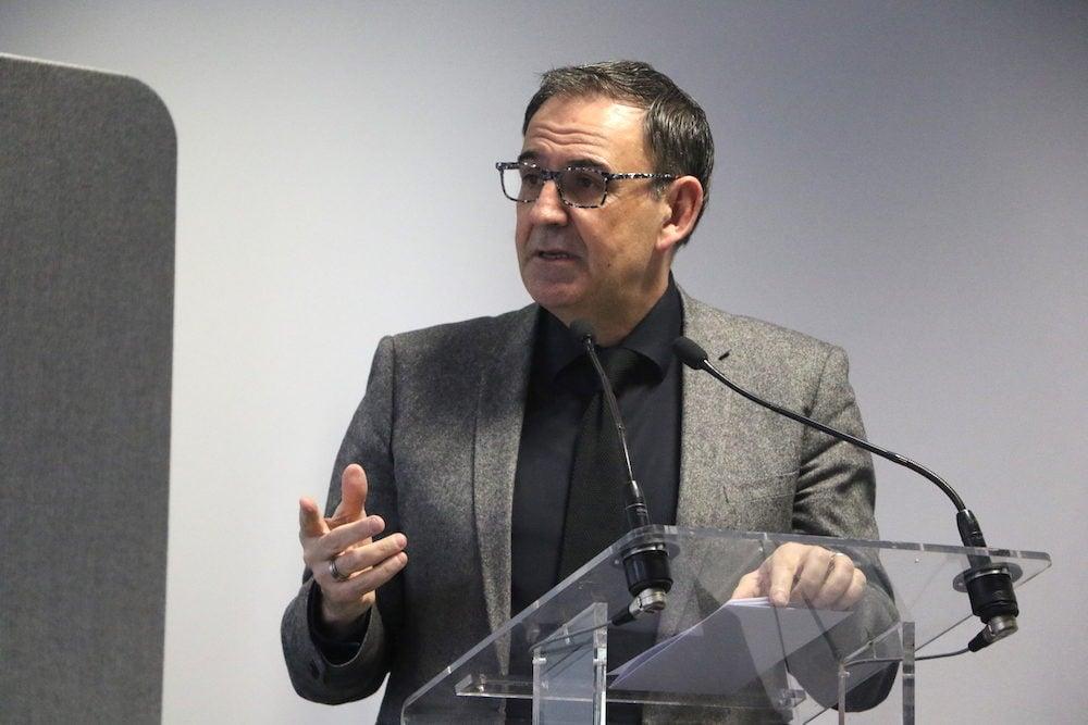 David Kimelfeld président de la Métropole de Lyon lors de la signature d'un avenant au Contrat de Plan Etat-Région. ©MG/Rue89Lyon