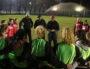 Les joueuses autour du coach Philippe Buffevant à l'entraînement des féminines du LOU le 5 février 2019. ©MG/Rue89Lyon