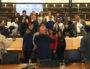 Photo de groupe à l'issue de la séance du grand débat tenu par les jeunes élus du Comet'. ©MG/Rue89Lyon