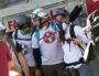 """Des """"Street Médics"""" à Lyon lors de l'actes XIV des """"gilets jaunes"""" se tiennent prêt alors que les premières lacrymos touche la manifestation. ©MG/Rue89Lyon"""