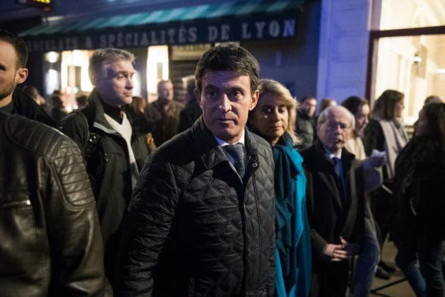 Manuel Valls au rassemblement contre l'antisémitisme - 19 février 2019 à Lyon ©Houcine Haddouche