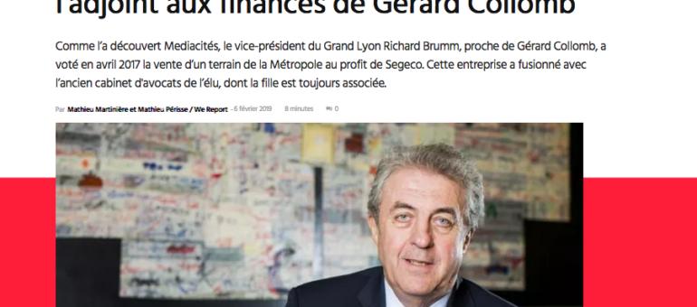 Un adjoint de Gérard Collomb à la mairie de Lyon en situation de conflit d'intérêts?