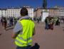 """Geoffroy, """"gilet jaune"""" à Lyon le 23 mars, place Bellecour. ©LB/Rue89Lyon"""