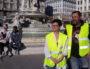 """Sylvie et Frédéric, """"gilets jaunes"""" à Lyon, le 23 mars, place des Jacobins. ©LB/Rue89Lyon"""