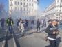 Usage de gaz lacrymogène, place de la République le 23 mars. ©LB/Rue89Lyon