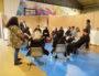 Les candidats se font coacher une dernière fois avant leur entretien individuel. ©NP/Rue89Lyon