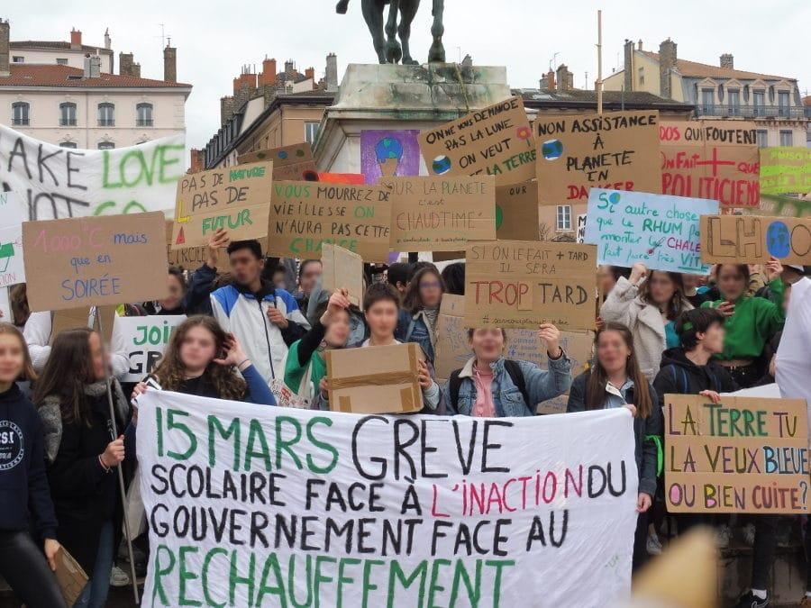 """La """"grève pour le climat"""" du 15 mars à Lyon© AD/Rue89Lyon"""