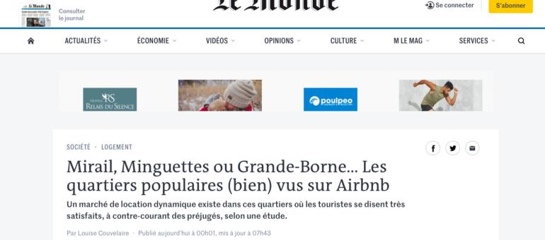 Les quartiers populaires tels que les Minguettes (bien) vus sur Airbnb