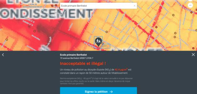 Une alerte sur la pollution atmosphérique autour des écoles de Lyon