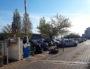 Le dépôt de Lyon-Gerland, le matin du vendredi 5 avril. On voit encore les traces du blocage opéré par les éboueurs en grève. ©LB/Rue89Lyon