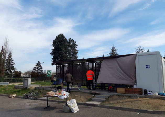Blocage de l'usine d'incinération de Lyon-Gerland, en avril 2019