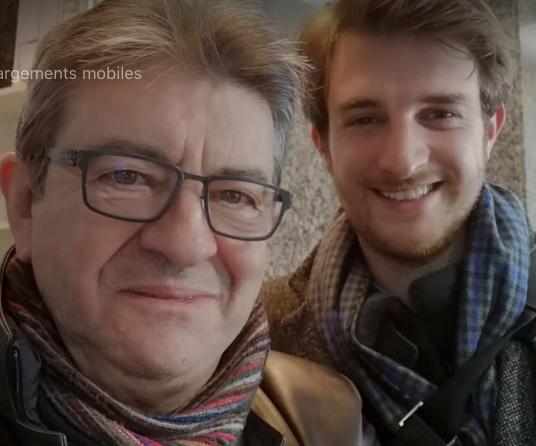 Andrea Kotarac avec Jean-Luc Mélenchon