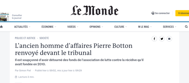 Case justice : Pierre Botton, on prend le même et on recommence ?