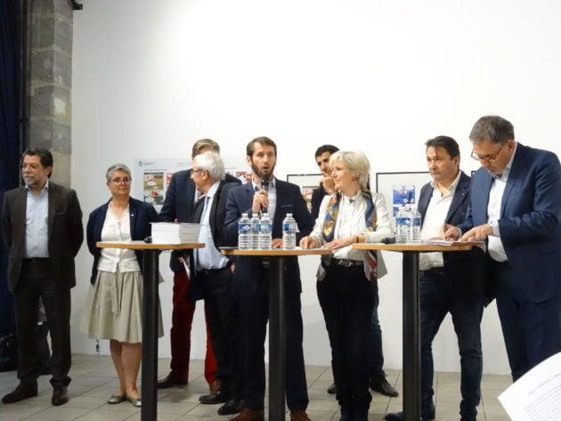 Candidats et soutiens de la liste Renaissance aux élections européennes 2019 / crédits : Oriane Mollaret