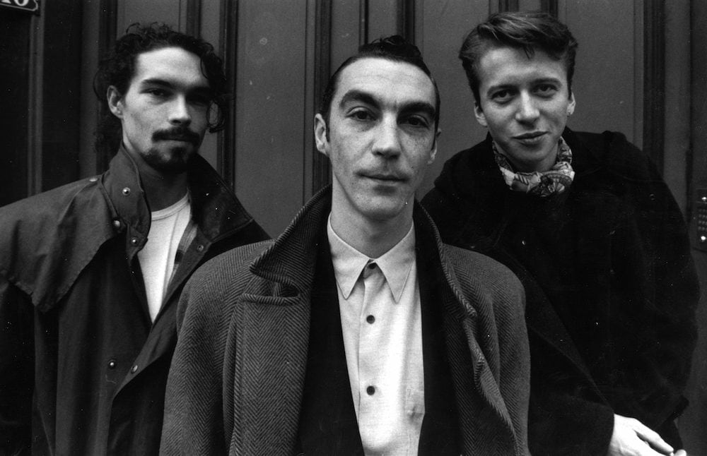 Membres du groupe de l'Affaire Louis' Trio. Hubert Mounier est au centre.