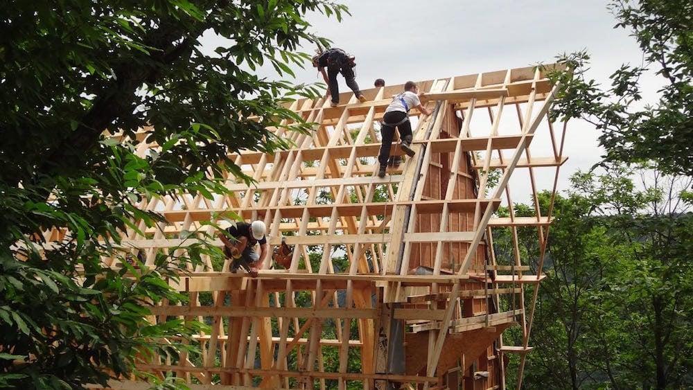 Logements sociaux de la Bogue du Blat, en construction.
