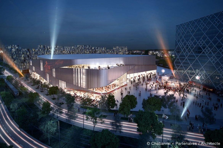 Image de synthèse du projet d'Arena à Strasbourg. ©Chabanne+ Partenaires/Architecte