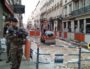 Photo prise quelque heures après l'explosion rue Victor Hugo, Lyon 2è, le 24 mai 2019. ©Rue89Lyon